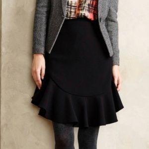 Leifsdottir Black Faray Flounce Skirt